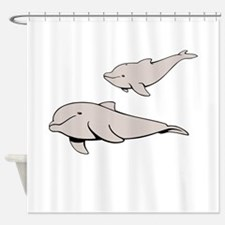 Buluga Whales Shower Curtain