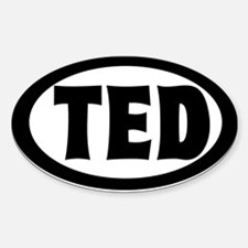 Ted's Auto Oval Stickers