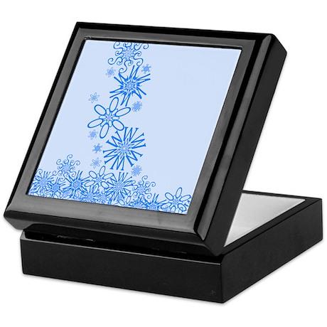 Snowflakes Spell Snow Keepsake Box
