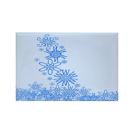 Snowflakes Spell Snow Rectangle Magnet (100 pack)