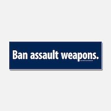 Ban assault weapons Car Magnet 10 x 3
