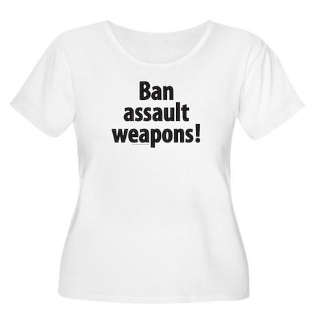 Ban Assault Weapons Women's Plus Size Scoop Neck T