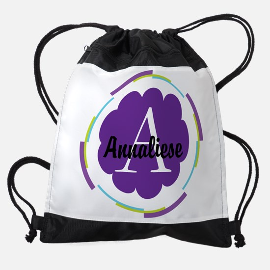 Personalized Name Monogram Gift Drawstring Bag
