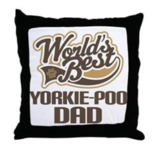 Yorkie-Poo Dog Dad Throw Pillow