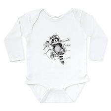 Raccoon Play Long Sleeve Infant Bodysuit