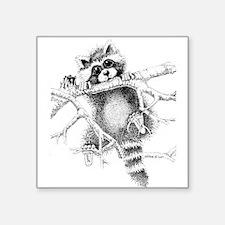 "Raccoon Play Square Sticker 3"" x 3"""