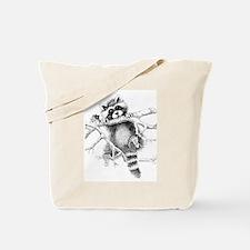 Raccoon Play Tote Bag