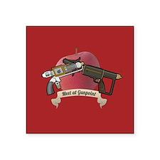 "meet at gunpoint Square Sticker 3"" x 3"""