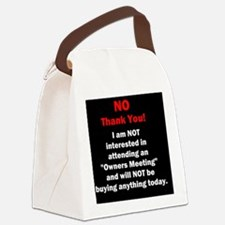 Cute Timeshare Canvas Lunch Bag