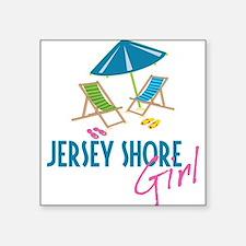 "Jersey Shore Girl Square Sticker 3"" x 3"""