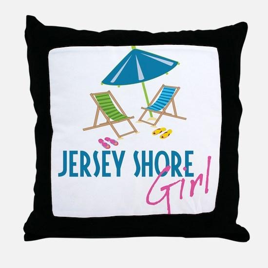 Jersey Shore Girl Throw Pillow