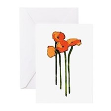 poppies thank you Greeting Cards (Pk of 20)