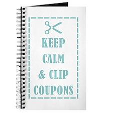 KEEP CALM & CLIP COUPONS Journal