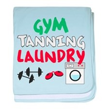 Gym Tanning Laundry baby blanket