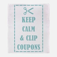 KEEP CALM & CLIP COUPONS Throw Blanket