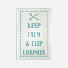 KEEP CALM & CLIP COUPONS Rectangle Magnet
