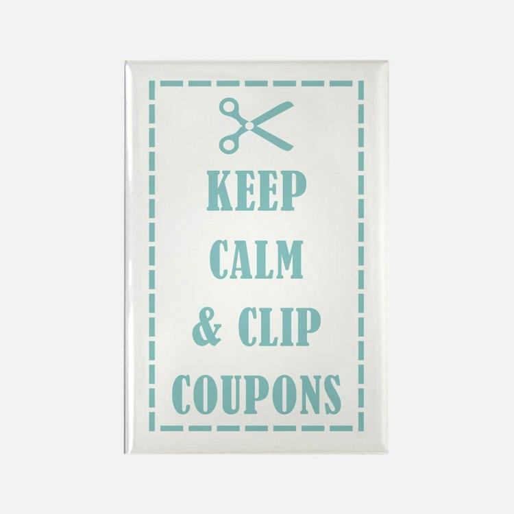KEEP CALM & CLIP COUPONS Rectangle Magnet