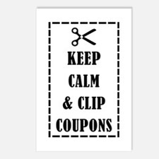 KEEP CALM & CLIP COUPONS Postcards (Package of 8)