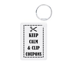 KEEP CALM & CLIP COUPONS Keychains