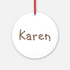Karen Coffee Beans Round Ornament