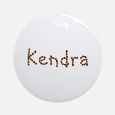 Kendra Coffee Beans Round Ornament