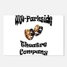 Black Lettering UW Parkside Theater Company Postca