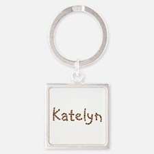 Katelyn Coffee Beans Square Keychain