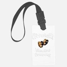 White lettering UW Parkside Theater Company Luggage Tag