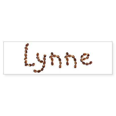 Lynne Coffee Beans Bumper Sticker