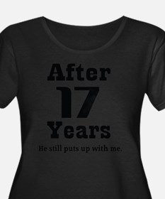 17th Anniversary Funny Quote Plus Size T-Shirt