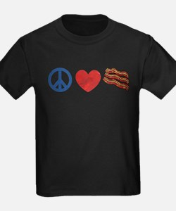 Peace Love and Bacon Strips T
