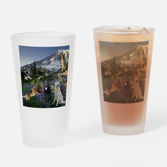 German Shepherd Country Drinking Glass