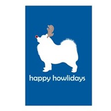"Samoyed ""Happy Howlidays"" Postcards (Package of 8)"