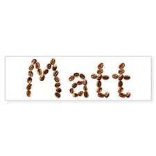 Matt Coffee Beans Bumper Bumper Sticker