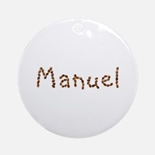 Manuel Coffee Beans Round Ornament
