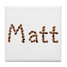 Matt Coffee Beans Tile Coaster