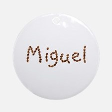 Miguel Coffee Beans Round Ornament