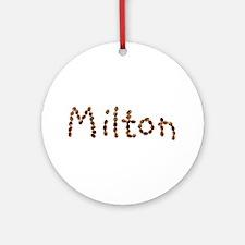 Milton Coffee Beans Round Ornament