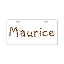 Maurice Coffee Beans Aluminum License Plate