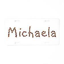Michaela Coffee Beans Aluminum License Plate