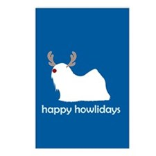 "Lhasa Apso ""Happy Howlidays"" Postcards (Package of"