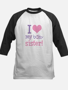 I Love My Baby Sister Kids Baseball Jersey