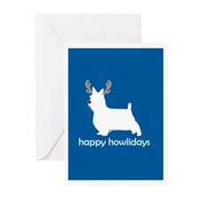 "Silky Terrier ""Happy Howliday Greeting Cards (Pack"