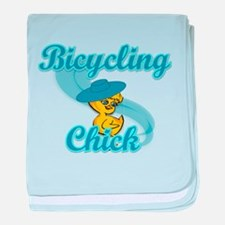 Bicycling Chick #3 baby blanket