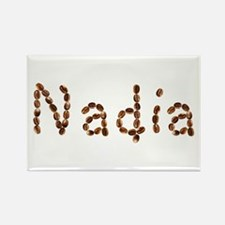 Nadia Coffee Beans Rectangle Magnet