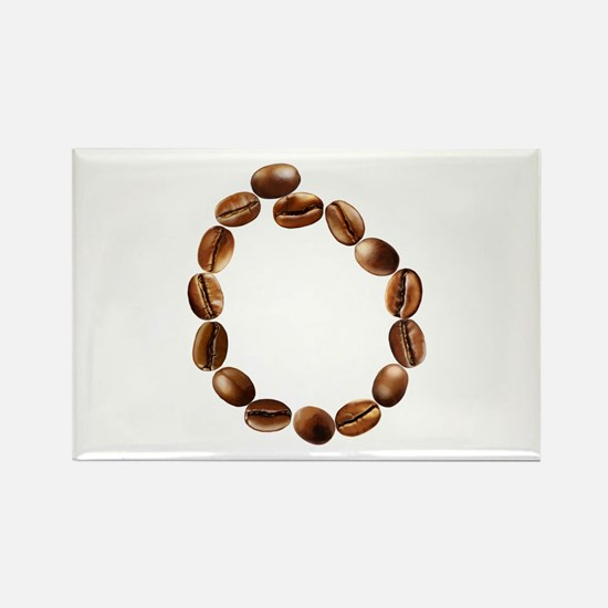 O Coffee Beans Rectangle Magnet