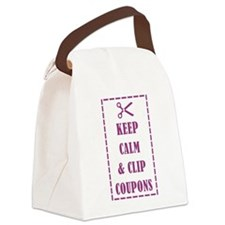 KEEP CALM & CLIP COUPONS Canvas Lunch Bag