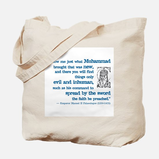 Palaeologus Quotation Tote Bag