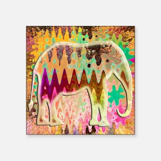 Golden_TieDyed_Elephant Sticker