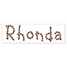 Rhonda Coffee Beans Bumper Bumper Sticker